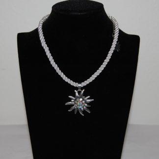 Edelweiss Trachten Damen Trachten Kette Edelweiss Kordel 37 cm Weiß