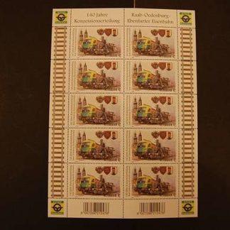 Österreich 2012 140 J. Konzessionserteilung Raab Kleinbogen ANK.3061 postfrisch
