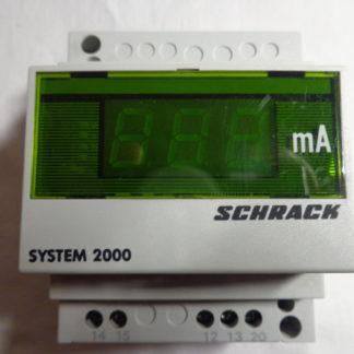 Schrack System 2000   mA    Ampermeter