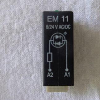 Schrack EM12 6/24V DC LED Steckmodul grün