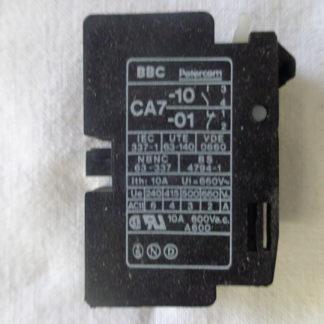BBC  CA7 -10 /-01 Hilfskontakt Block
