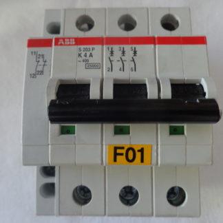 ABB S203P K4A Sicherungsautomat 3pol + Hilfsschalter S 2C - H02L