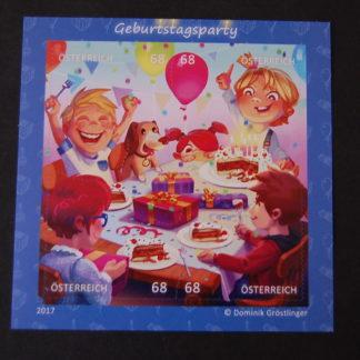 Geburtstagsparty - Puzzle-Block postfrisch, Österreich 2017